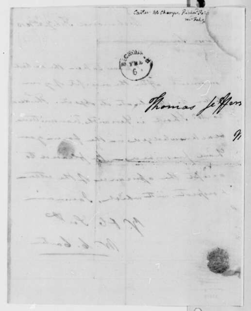 William Champe Carter to Thomas Jefferson, February 2, 1813