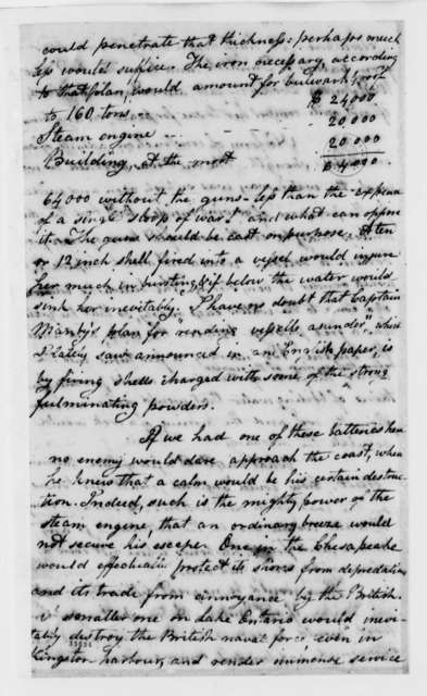 William Cooper to Thomas Jefferson, November 24, 1813, with Drawing