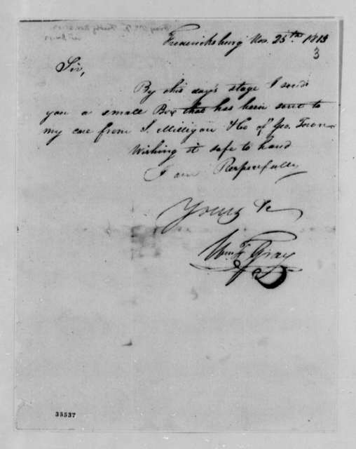 William F. Gray to Thomas Jefferson, November 25, 1813