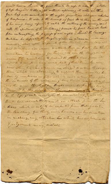 William Henry Harrison battle orders