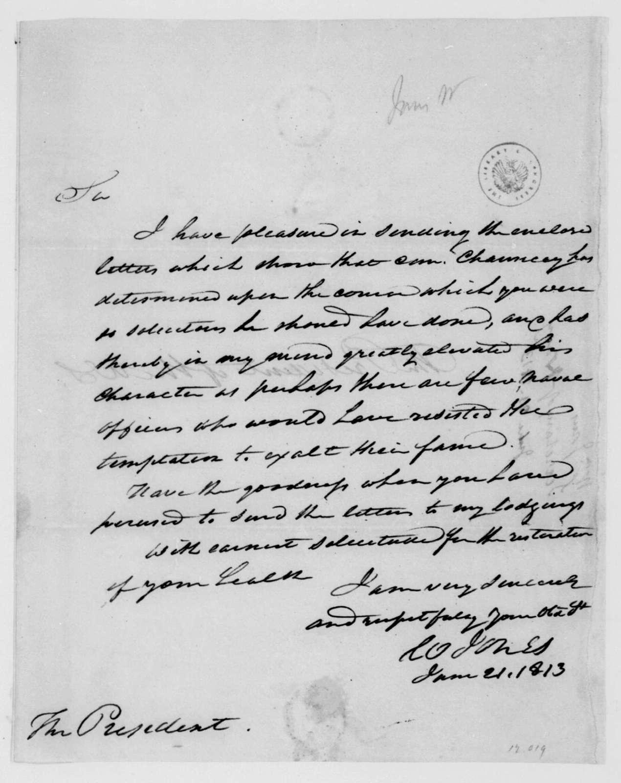 William Jones to James Madison, June 21, 1813.