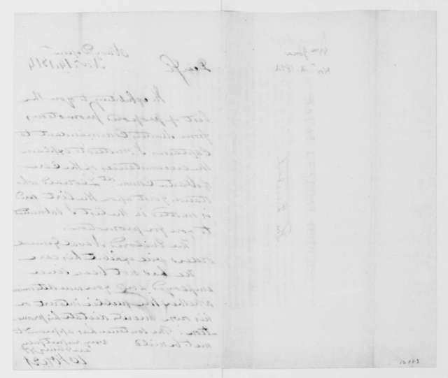 William Jones to James Madison, November 14, 1813.
