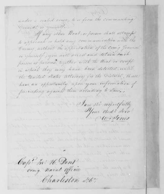 William Jones to John H. Dent, November 8, 1813.