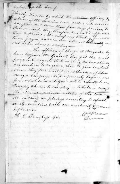William Martin and H. L. Douglass to Andrew Jackson, November 14, 1813