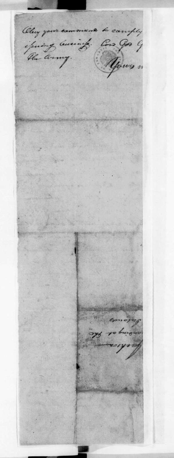 William Preston Anderson to Andrew Jackson, November 8, 1813