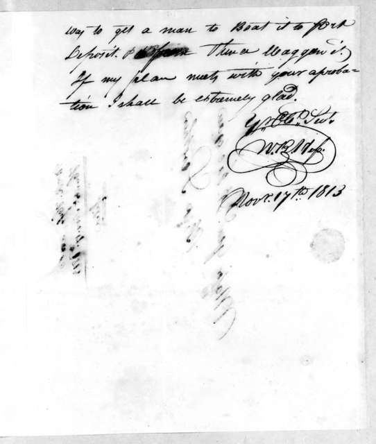 William R. Hess to Andrew Jackson, November 17, 1813