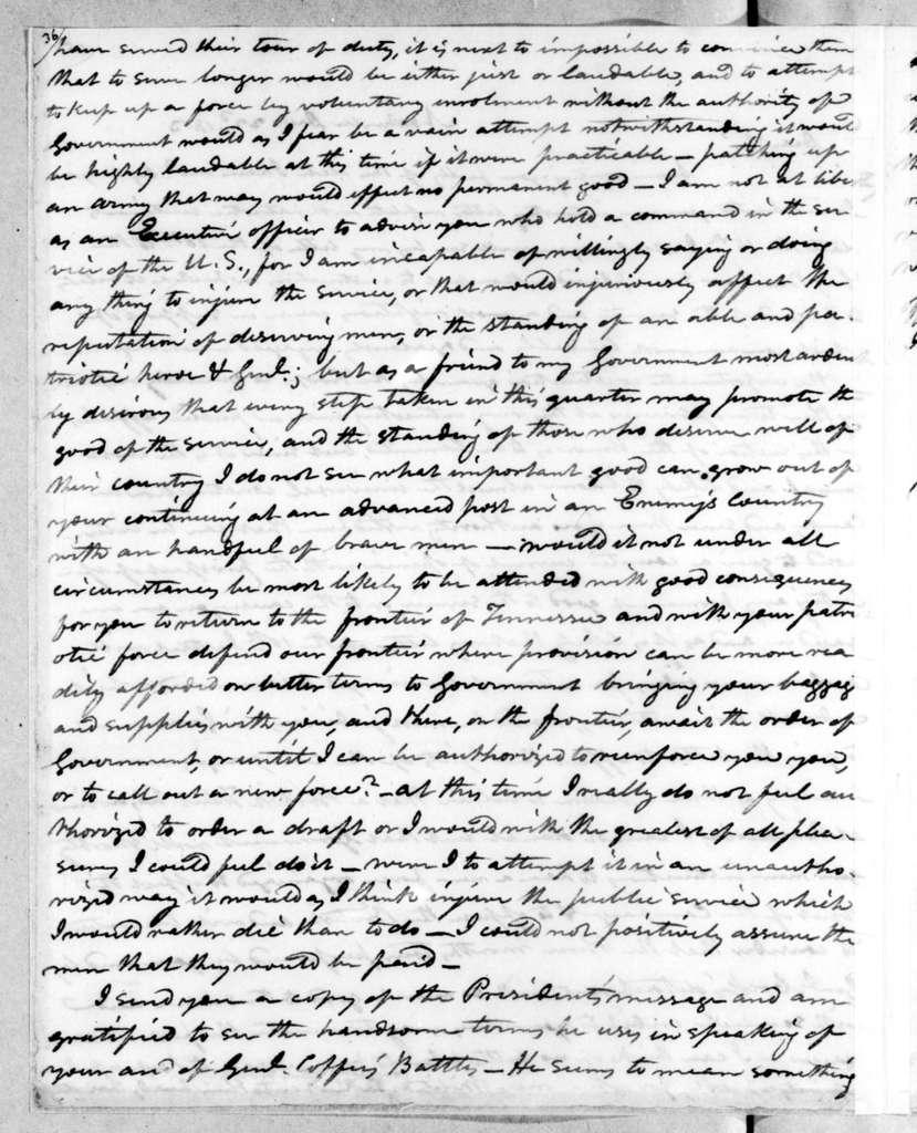 Willie Blount to Andrew Jackson, December 22, 1813