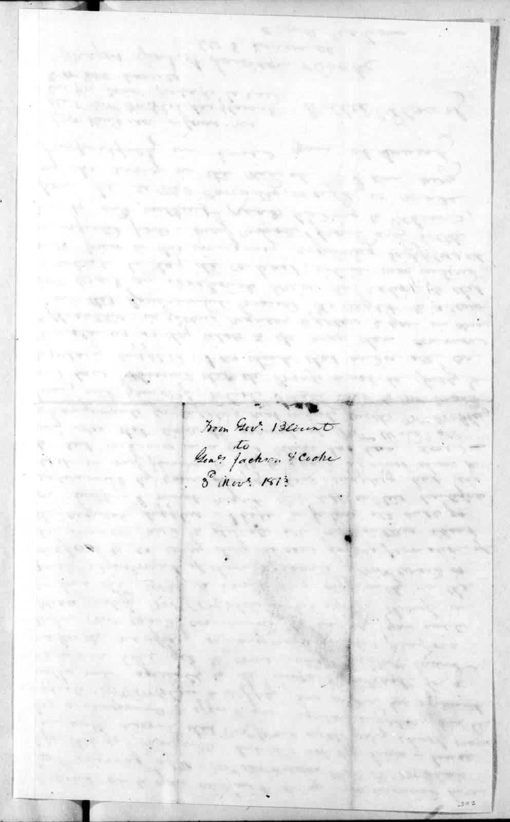 Willie Blount to Andrew Jackson, November 3, 1813