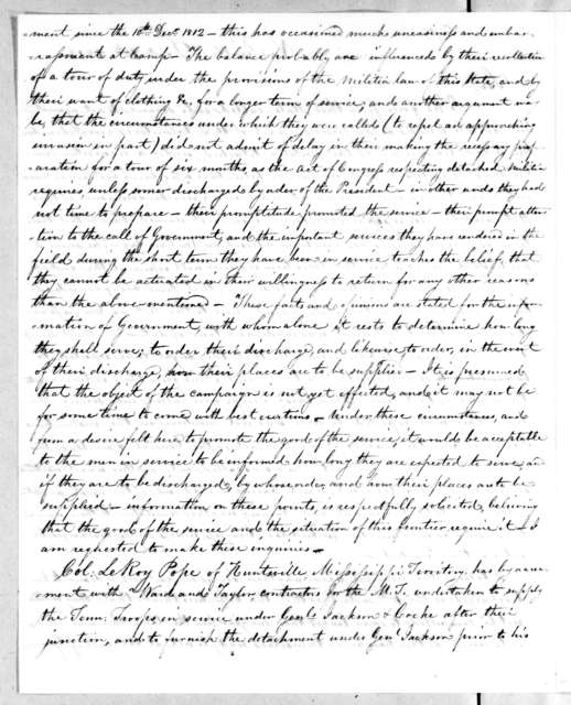 Willie Blount to John Armstrong, December 10, 1813