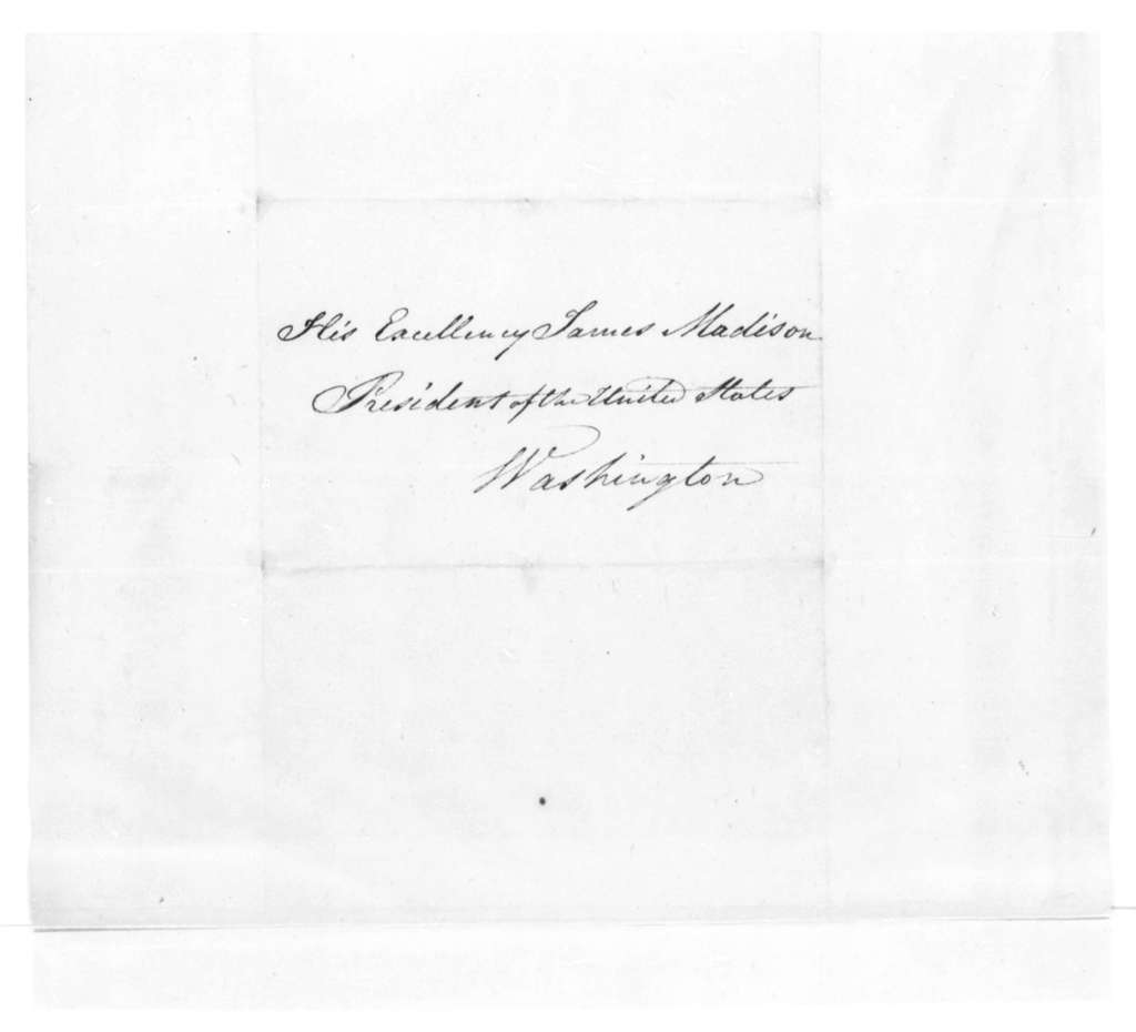 A. C. Cazenove to James Madison, October 31, 1814.