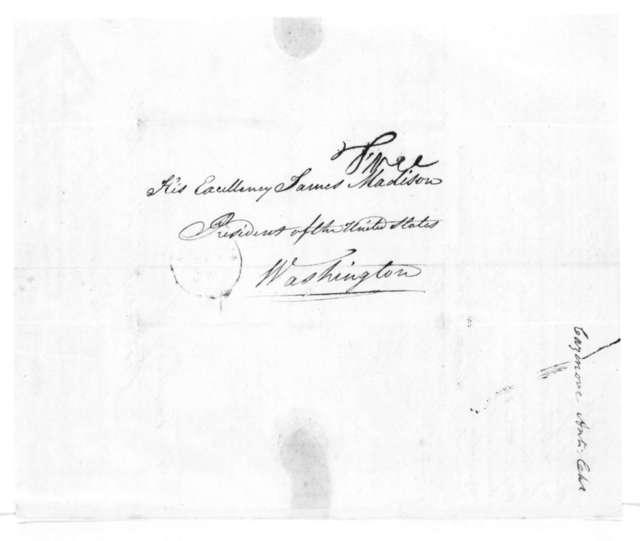 A. C. Cazenove to James Madison, September 30, 1814.