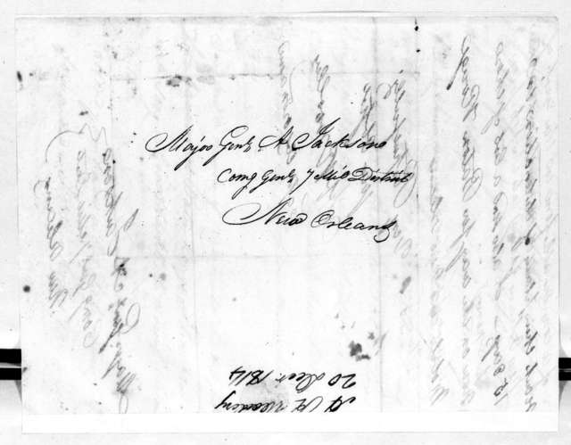 Abram R. Woolley to Andrew Jackson, December 20, 1814