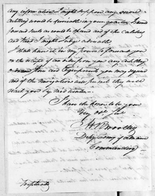 Abram R. Woolley to Andrew Jackson, November 8, 1814