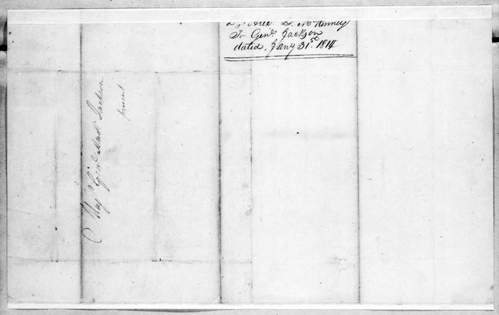 Alexander D. McKamey to Andrew Jackson, January 31, 1814
