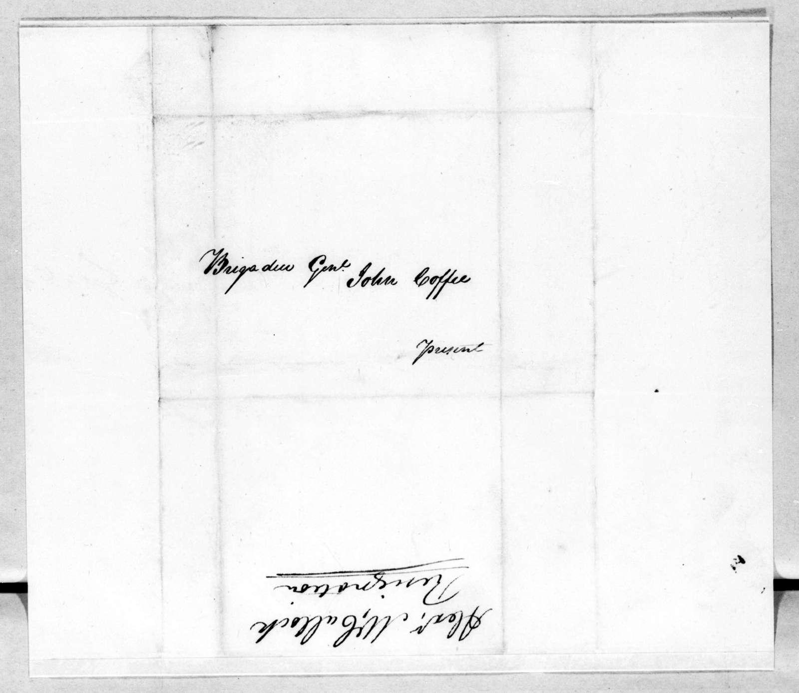 Alexander McCulloch to John Coffee, November 17, 1814