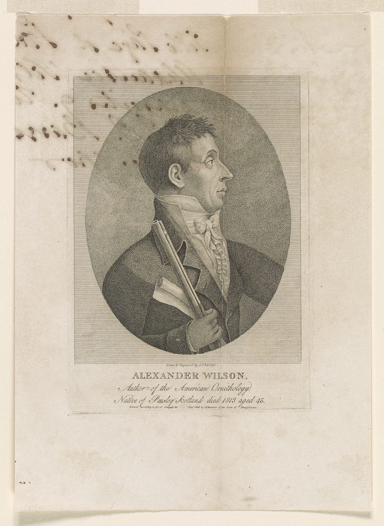 Alexander Wilson, author of the American Ornithology, native of Paisley, Scotland died 1813 aged 45 / drawn & engraved by J.J. Barralet.