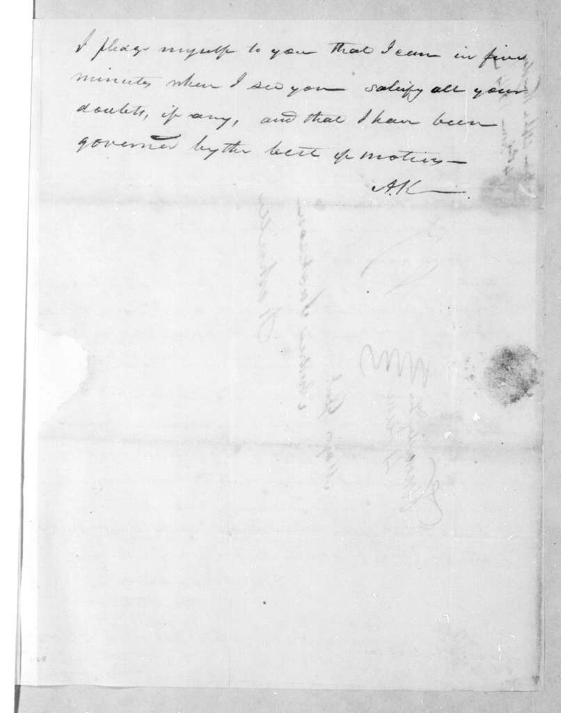 Alpha Kingsley to Andrew Jackson, June 4, 1814