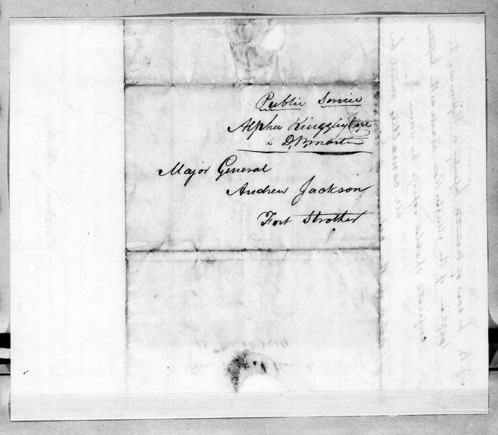 Alpha Kingsley to Andrew Jackson, March 13, 1814