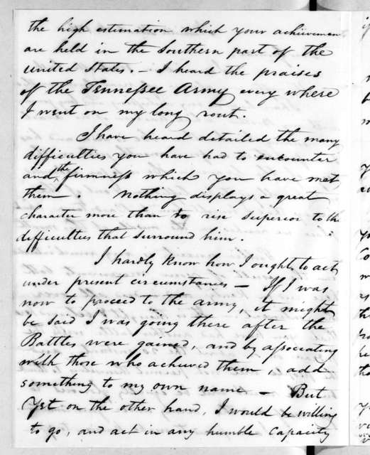 Andrew Hynes to Andrew Jackson, March 26, 1814