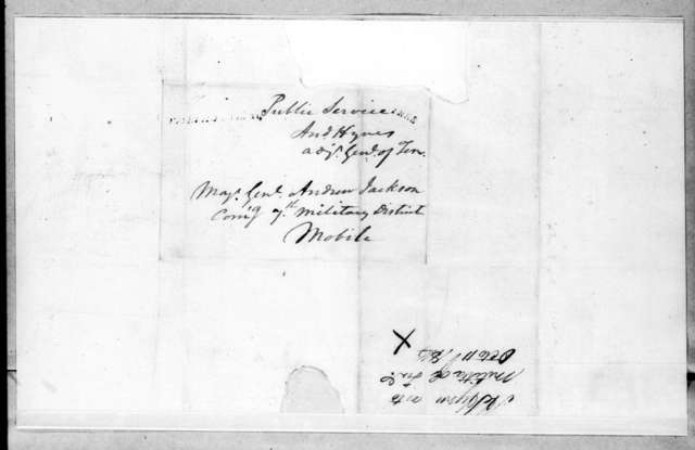 Andrew Hynes to Andrew Jackson, October 11, 1814