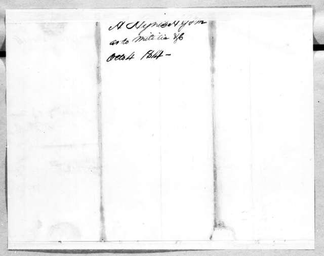 Andrew Hynes to James White, October 4, 1814