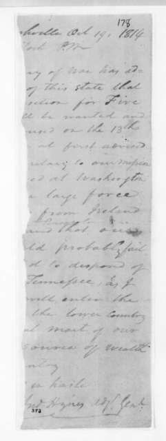 Andrew Hynes to Unknown, October 19, 1814