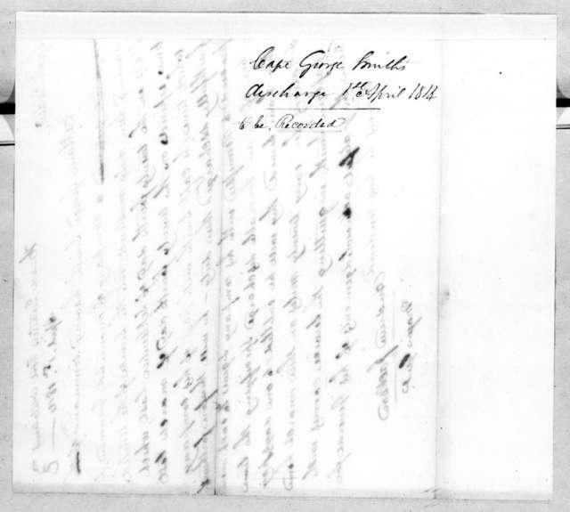 Andrew Jackson, April 1, 1814
