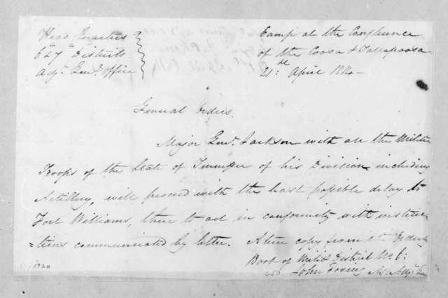 Andrew Jackson, April 21, 1814
