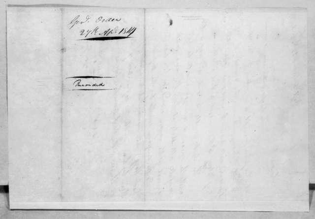 Andrew Jackson, April 27, 1814