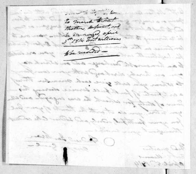 Andrew Jackson, April 5, 1814