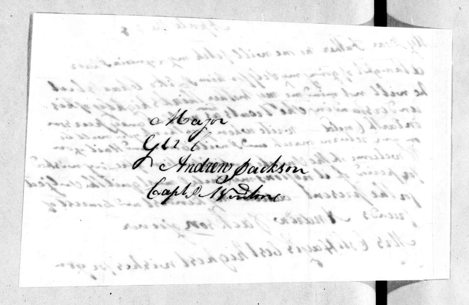 Andrew Jackson, Jr. to Andrew Jackson, April 7, 1814