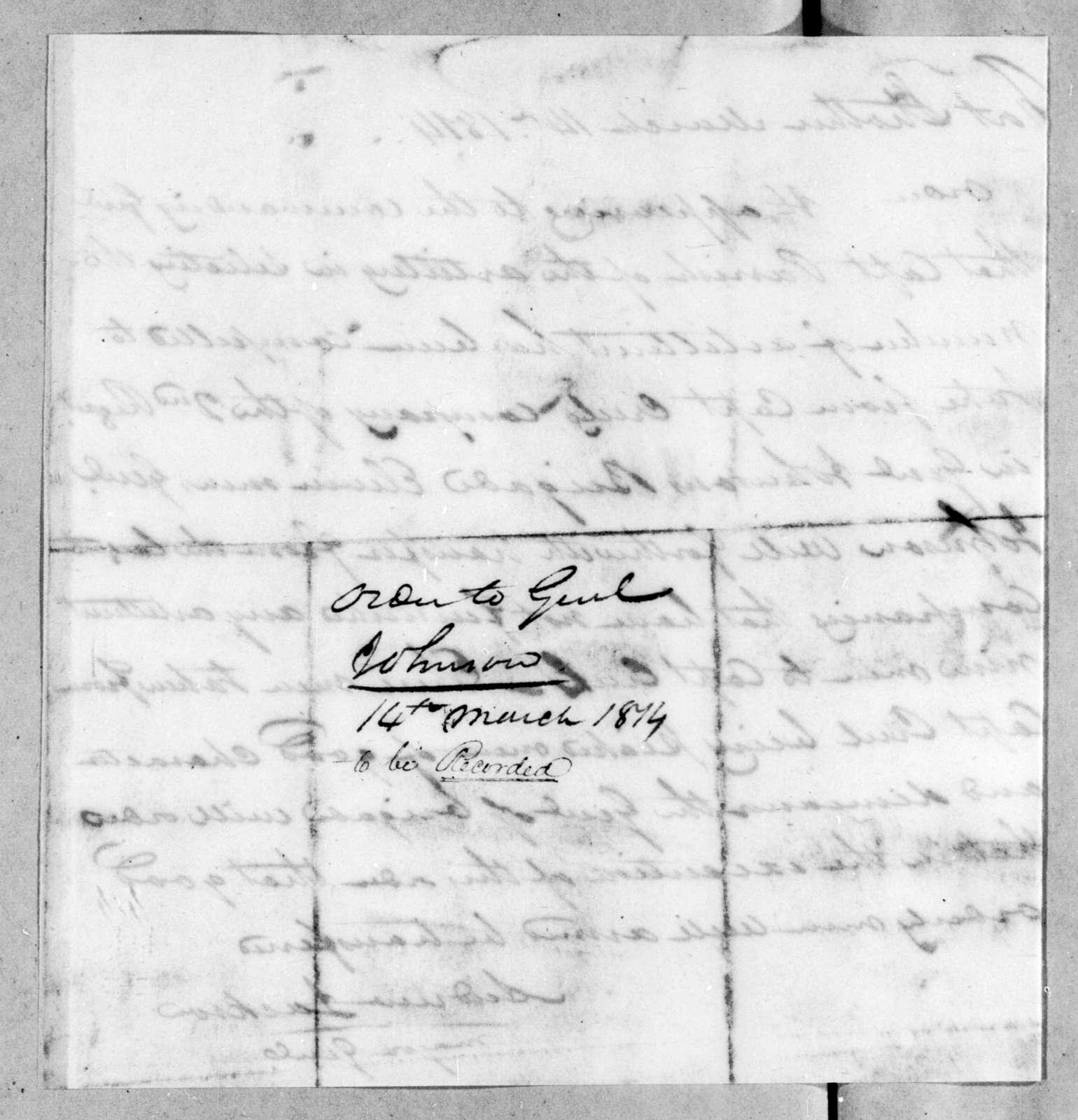 Andrew Jackson, March 14, 1814