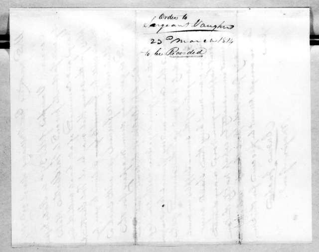 Andrew Jackson, March 23, 1814
