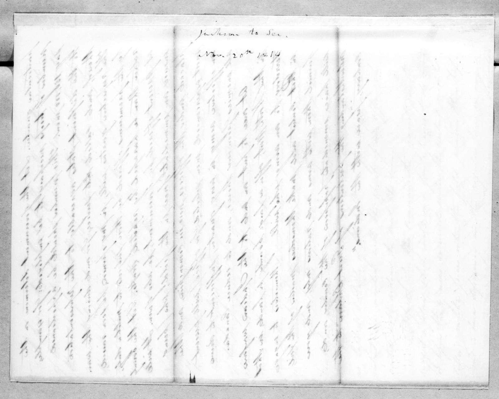 Andrew Jackson, November 20, 1814