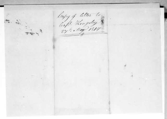 Andrew Jackson to Alpha Kingsley, May 27, 1814