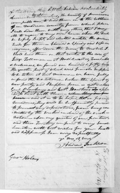 Andrew Jackson to David Holmes, April 18, 1814
