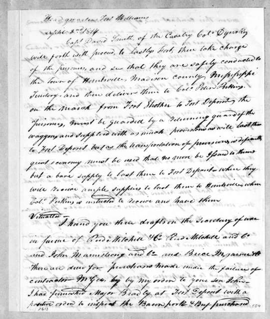 Andrew Jackson to David Smith, April 2, 1814