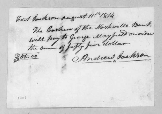 Andrew Jackson to George Mayfield, August 11, 1814