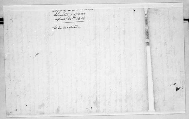 Andrew Jackson to George Washington Campbell, April 25, 1814