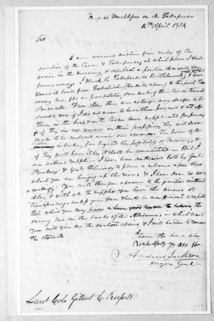 Andrew Jackson to Gilbert C. Russell, April 16, 1814