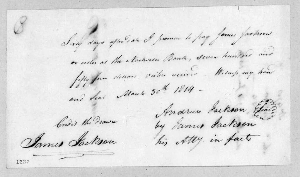 Andrew Jackson to James Jackson, March 30, 1814