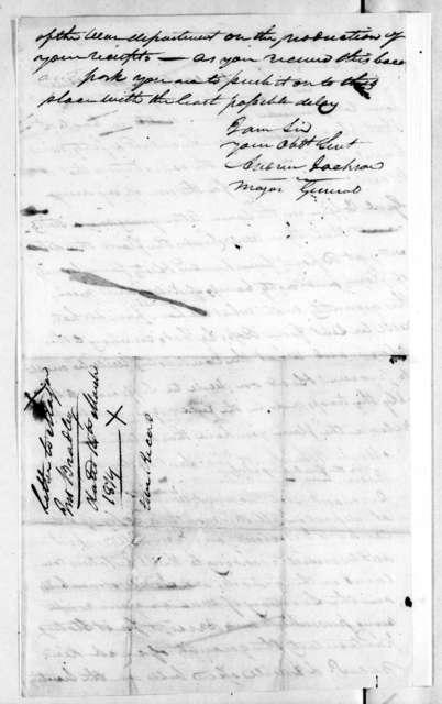 Andrew Jackson to John Bradley, March 14, 1814