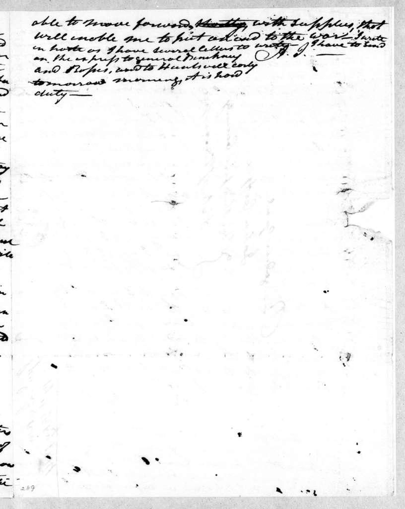 Andrew Jackson to John Coffee, February 17, 1814
