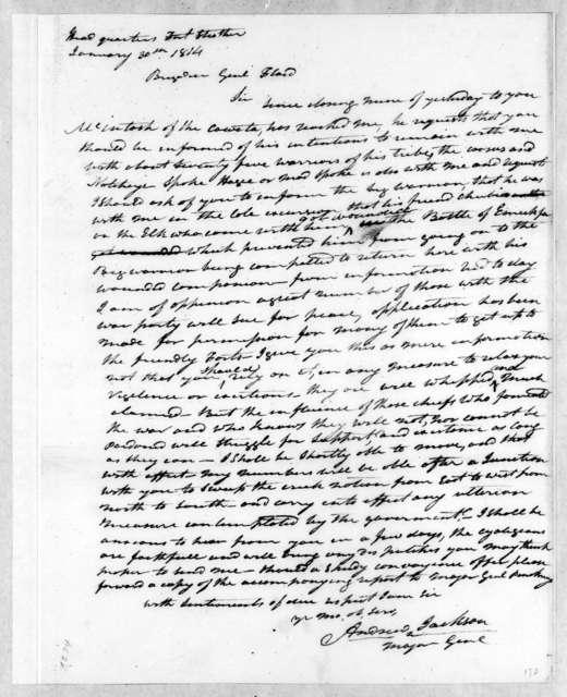 Andrew Jackson to John Floyd, January 30, 1814