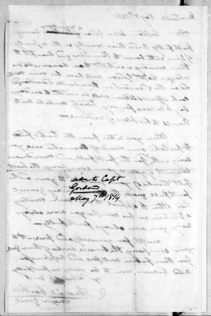 Andrew Jackson to John Gordon, May 7, 1814