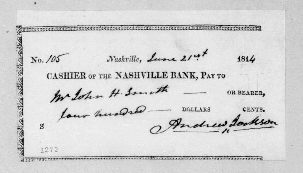 Andrew Jackson to John H. Smith, June 21, 1814