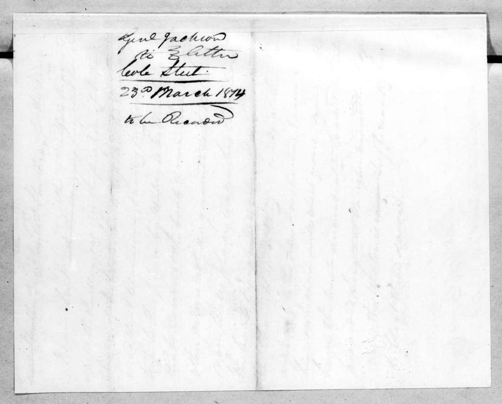 Andrew Jackson to Robert Steele, March 23, 1814
