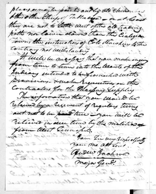 Andrew Jackson to Samuel Bunch, May 18, 1814