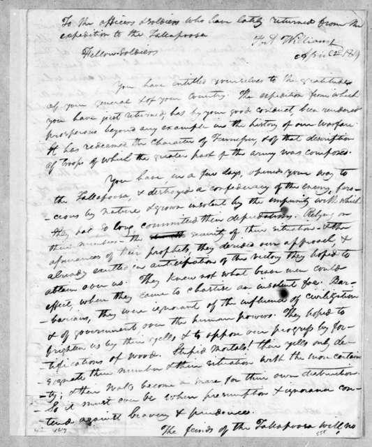 Andrew Jackson to Tennessee Volunteer Brigade, April 2, 1814