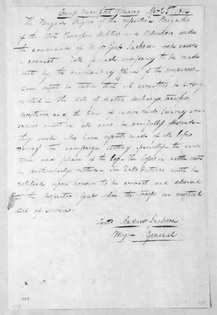 Andrew Jackson to Tennessee Volunteer Brigade Majors, April 25, 1814